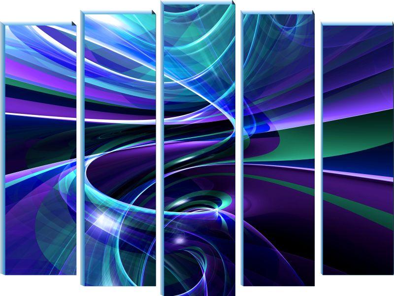 Модульная картина Фиолетовая спираль холст