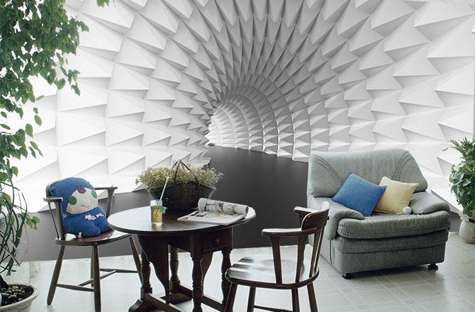 Абстрактный-архитектурный-туннель-гостиная-Киев-Украина