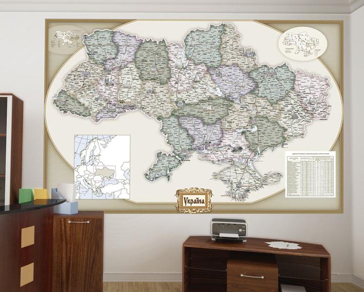 Стилизованная-Карта-Украины-офис-Киев-Украина