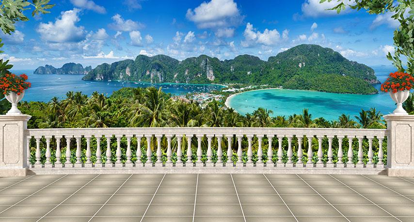 Фотошпалери тераса балкон розширення-простору балюстрада