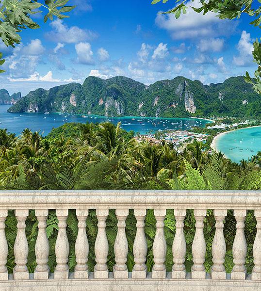 Фотообои балюстрада балкон остров расширение-пространства