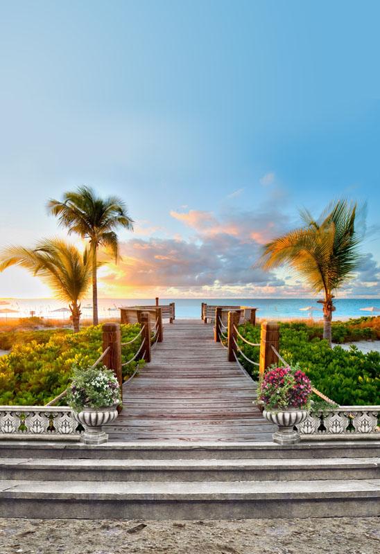 Фотошпалери колони, пірс, море, арка