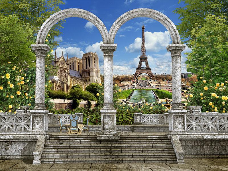 Фотошпалери колони париж Ейфелева арка