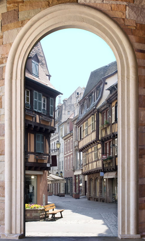 Фотошпалери 3d арка Франція Колмар