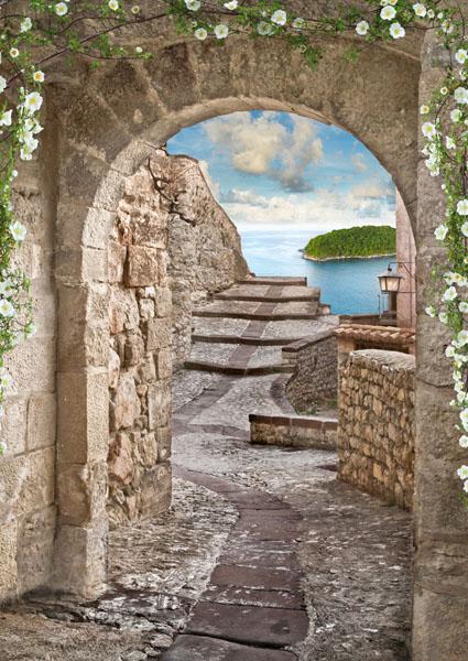 Фотообои 3d арка каменный узкий