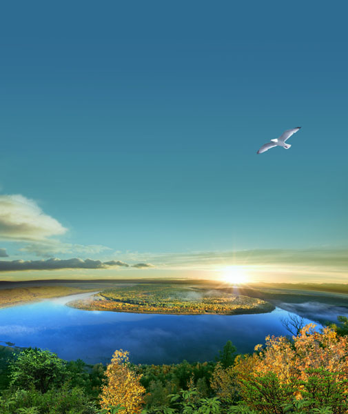 Фотообои 3d море солнце узкий