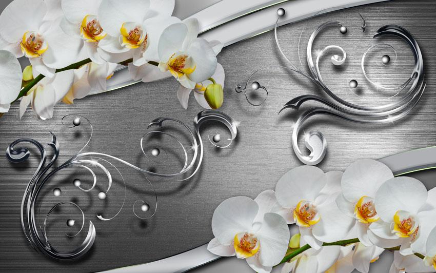 Фотообои узор абстракция круг цветы