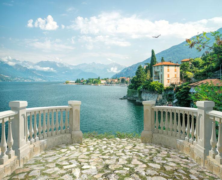 Фотообои 3д балюстрада море Италия