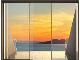 Фотообои французское окно море терраса