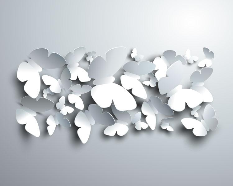 Фотообои 3d бабочка бумага узор