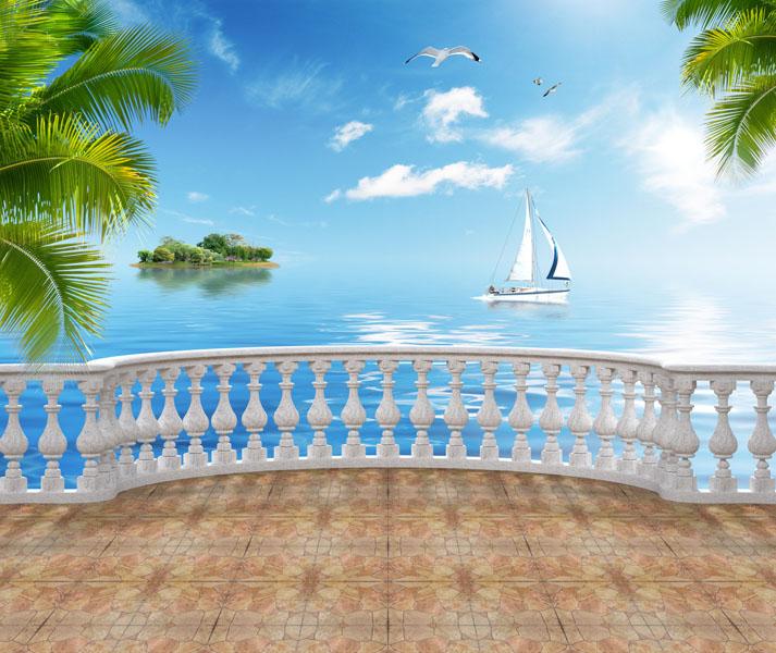 Фотообои 3д балюстрада балкон вид