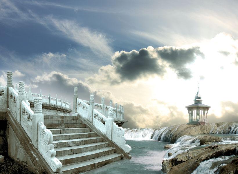 Фотообои ротонда архитектура лестница арт
