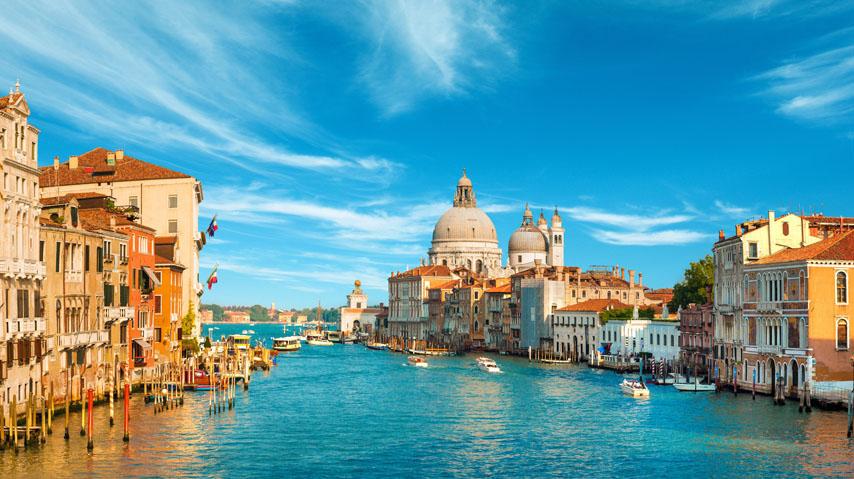Фотошпалери венеція, канал, Італія, блакитний