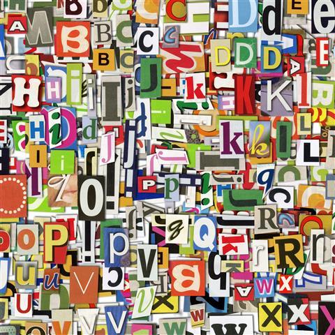 Фотошпалери мистецтво абстракція літери арт