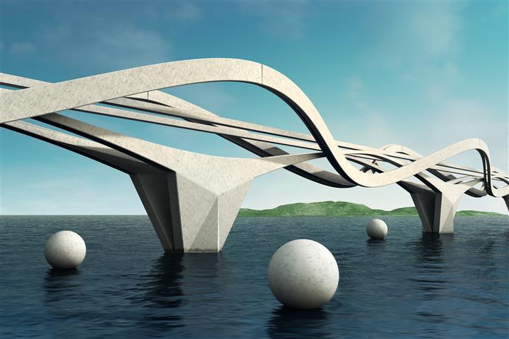 Фотообои искусство мост дизайн арт