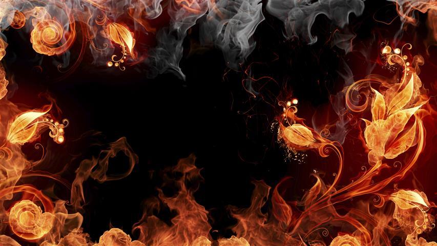 Фотообои искусство огонь дизайн арт
