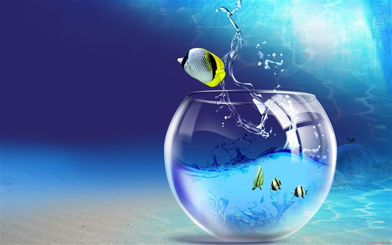 Фотошпалери мистецтво акваріум рибки арт