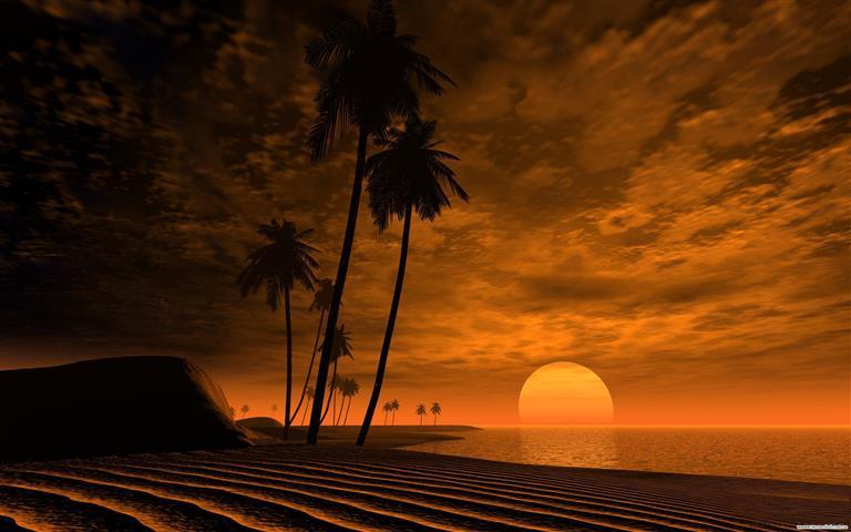 Фотошпалери мистецтво, захід сонця, дизайн, арт