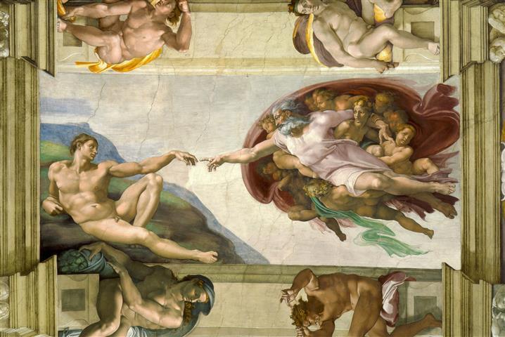 Фотообои искусство микеланджело адам арт