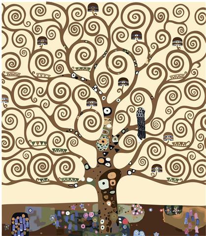Фотообои искусство древо жизни густав климт арт