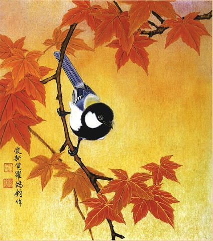 Фотообои искусство восток птица арт