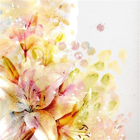 Фотошпалери мистецтво квіти дизайн арт
