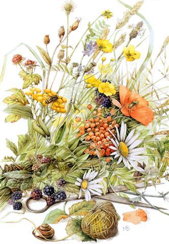 Фотошпалери мистецтво квіти птах арт