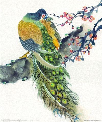 Фотошпалери мистецтво гілка птах арт