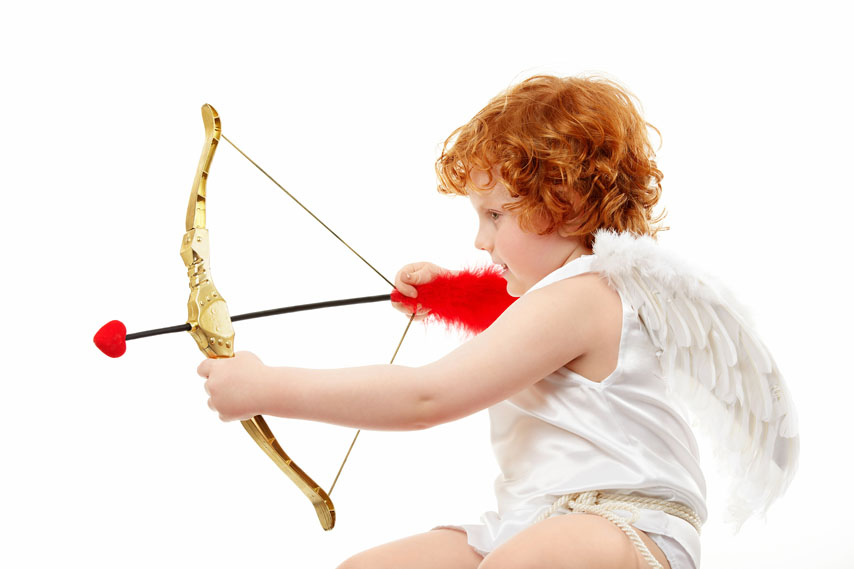 Фотообои херувим, лук, ангелочек, стрела