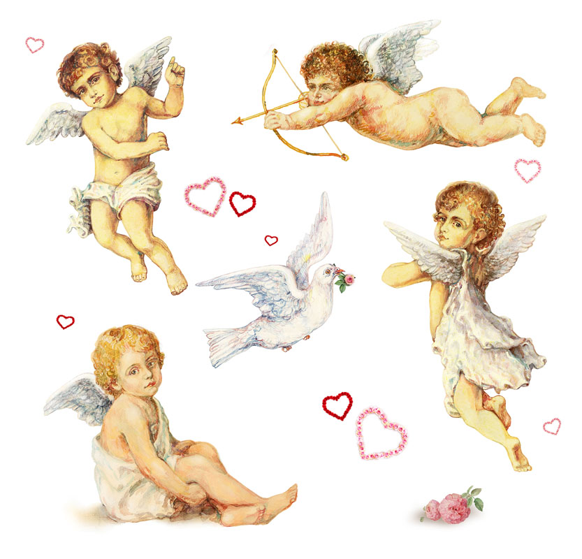 Фотошпалери херувим янголятко кохання сердце