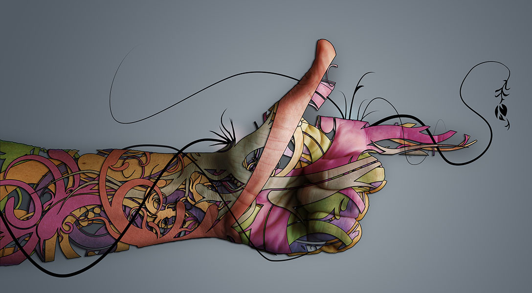 Фотошпалери рука арт арт дизайн