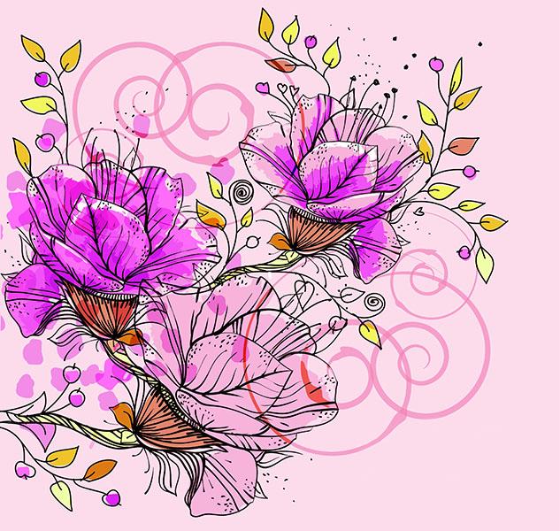 Фотообои цветы розовый розовый арт