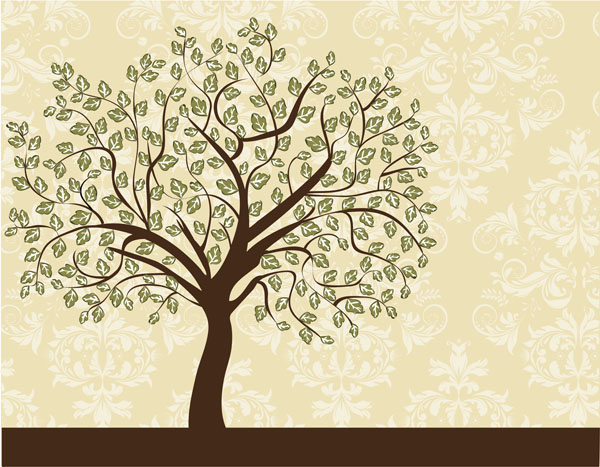 Фотообои дерево узор гранж старинный