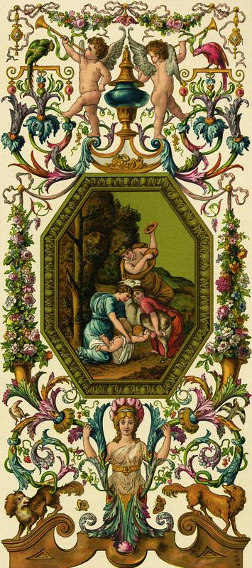 Фотошпалери бароко визерунок старовинний оформлювання