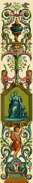 Фотошпалери бароко визерунок старовинний вузький