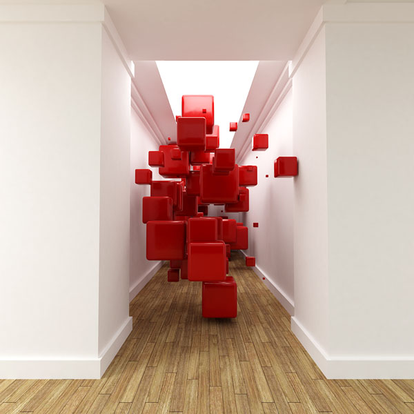 Фотошпалери абстракція 3д кубы арт