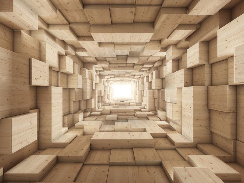 Фотошпалери абстракція 3д куби арт