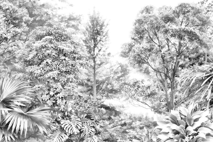 Фотошпалери арт гілки ліс дерева