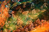 digital mural wallpaper, абстракция, цветы, арт, фотообои