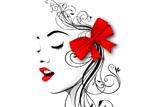 digital mural wallpaper, девушка, губы, профиль, арт