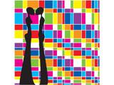 digital mural wallpaper, арт, любовь, рисунок, силует
