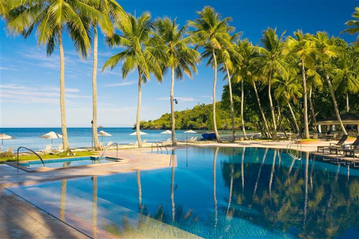 Фотообои море, пальма, океан, пляж