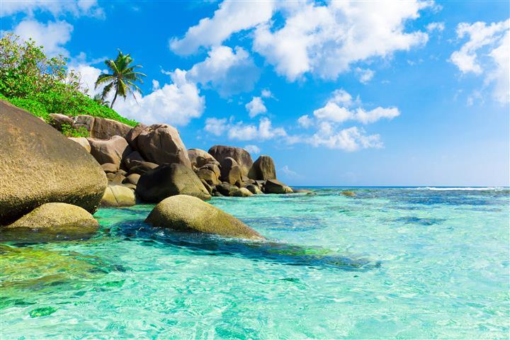 Фотошпалери море океан камені пляж