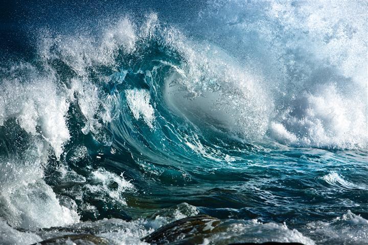 Фотошпалери море хвиля океан вода