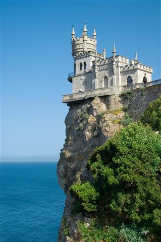 Фотошпалери море Ластівчине гніздо Крым пляж