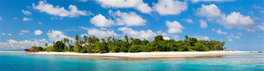 Фотошпалери море океан острів пляж