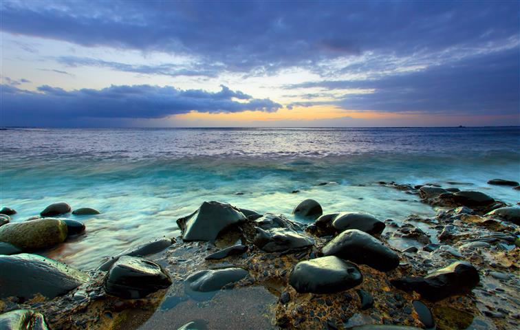 Фотошпалери море камені океан пляж