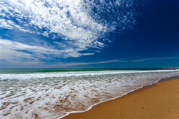Фотошпалери море піна океан пляж