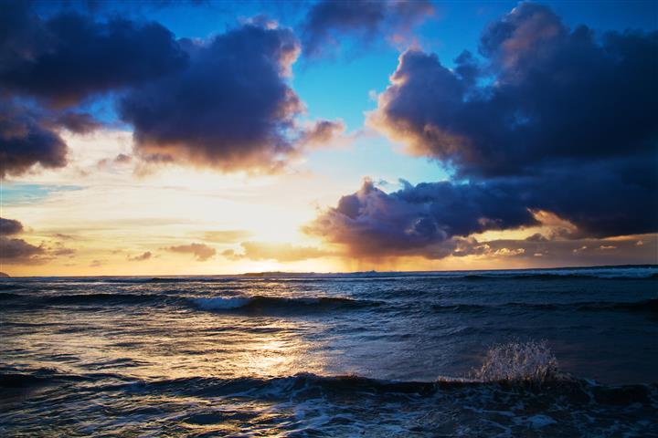 Фотообои море облака небо океан