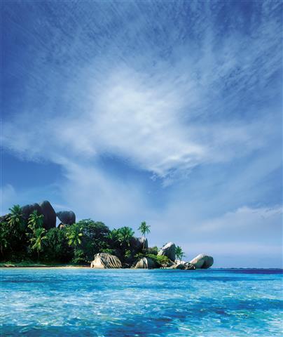 Фотошпалери море острів океан пляж